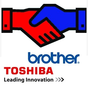 Toshiba and Brother